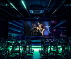 Cycle studio virtual fitness projection