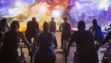 Image for David Lloyd Raynes Park'sstate-of-the art Les Mills IMMERSIVE FITNESS™ installation is a UK exclusive.
