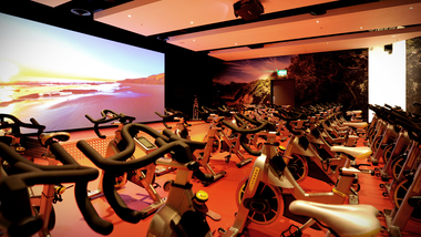 Cycle studio projection